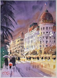 Le Negresco - Nice - France by Peter J Rodgers -  sized 21x28 inches. Available from Whitewall Galleries